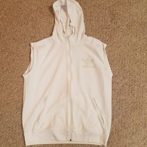 Adidas sleeveless zipper down sweatshirt